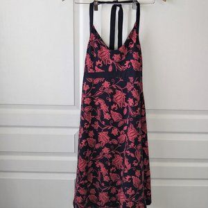 Patagonia Iliana Halter Dress Navy/Coral Floral Size S